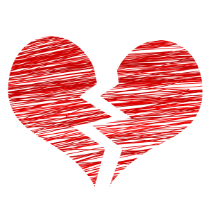 Image of a broken heart, to represent irreconcilable differences NJ and how an experienced Monmouth County divorce attorney can help guide you through a New Jersey divorce based on irreconcilable differences